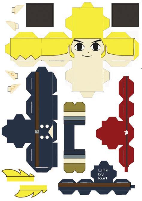 Legend Of Papercraft - legend of spirit tracks link royal engineer by