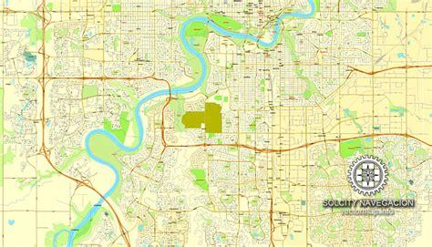 edmonton in canada map edmonton map in adobe pdf printable and fully editable