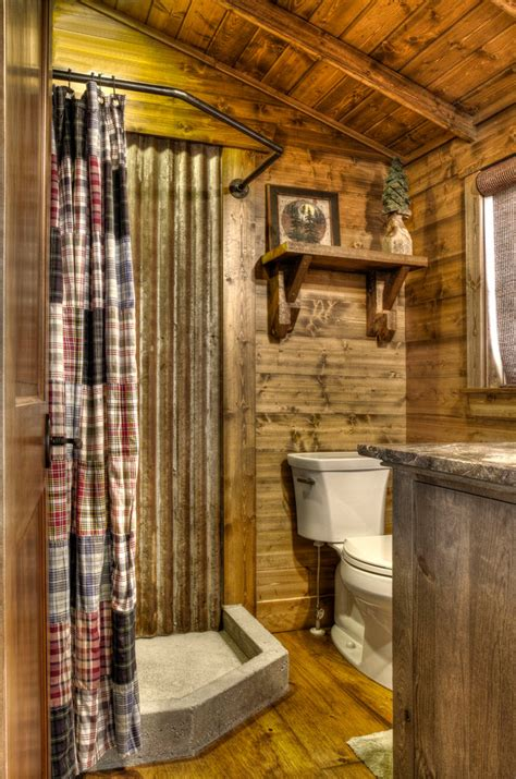 rustic shower curtains bathroom rustic with corrugated