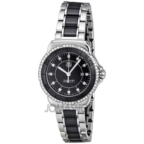 tag heuer ladies formula 1 watch tag heuer formula 1 black dial steel and ceramic ladies watch