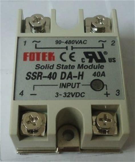 Ssr 40 Dah aliexpress buy free shipping fotek single phase solid state relay fotek ssr 40da h 40a