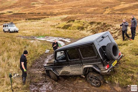 G Wagen by Road In A Mercedes G Wagen In Scottish Highlands
