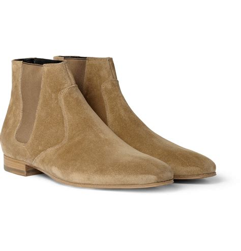 laurent suede chelsea boots in for lyst