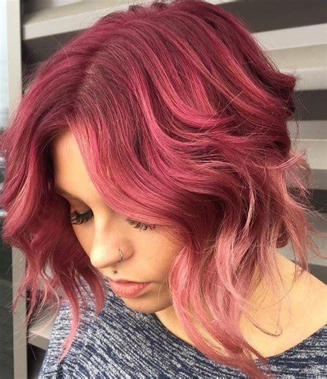 burgundy highlights on shag haircuts burgundy wavy hair casual newhairstylesformen2014 com