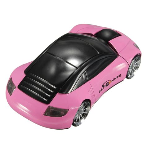Pink Car Mouse With Led Headlights by Bestrunner 2 4ghz Wireless Usb Optical Car Mouse Mice