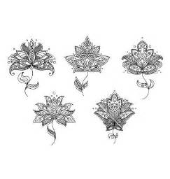 Henna lotus flower meaning black and white floral motifs of persian