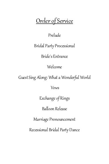 best photos of wedding reception order of service ceremony