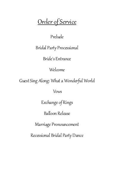 best photos of wedding reception order of service ceremony