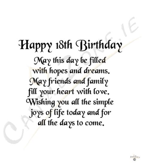 Happy 18 Birthday Quotes 18th Birthday Quotes For Girls Quotesgram