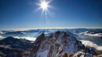 Mountains winter sun wallpaper   (29118)