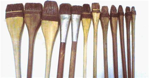 Kuas Lukis Gambar Sekolah 12pcs membuat kuas lukis berbahan dasar tangkai bambu karya seni sepatu lukis