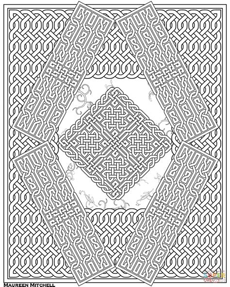 Knot Pattern - celtic knot pattern coloring page free printable