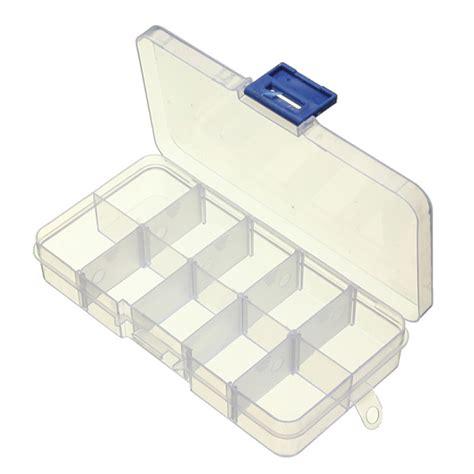 Clear Box 10 buy 10 compartment plastic clear slots adjustable organizer craft box bazaargadgets