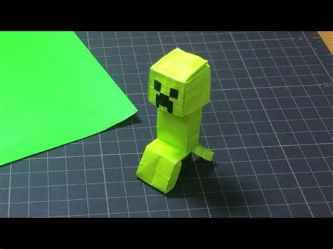 How To Make A Origami Creeper - minecraft creeper origami
