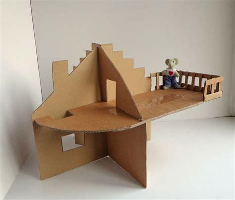 een kartonnen poppenhuis maken poppenhuizen dollhouses