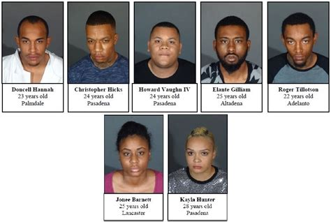 Glendora Arrest Records Seven Suspects Arrested Following Glendora In Los Angeles Crime Report