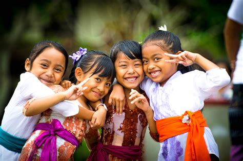 The Balinese levels of happiness amongst the balinese above average for indonesians seminyak times