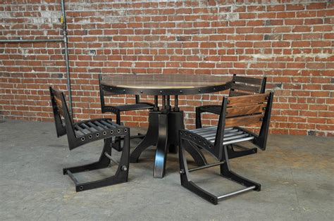 industrial dining table and chairs hure dining table vintage industrial furniture