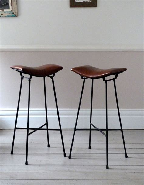 Wood And Leather Bar Stools by Wood And Metal Industrial Counter Stools H O M E Y