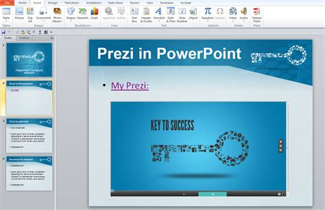 Insert Prezi Classic Into Powerpoint No Plugins Required Prezibase Powerpoint Add Template