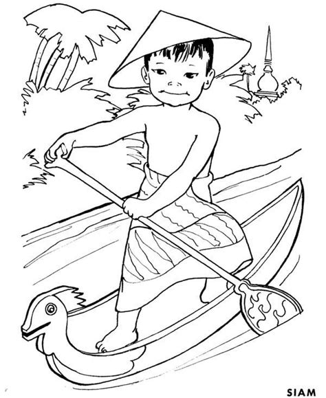 thailand coloring doodle art coloring pages
