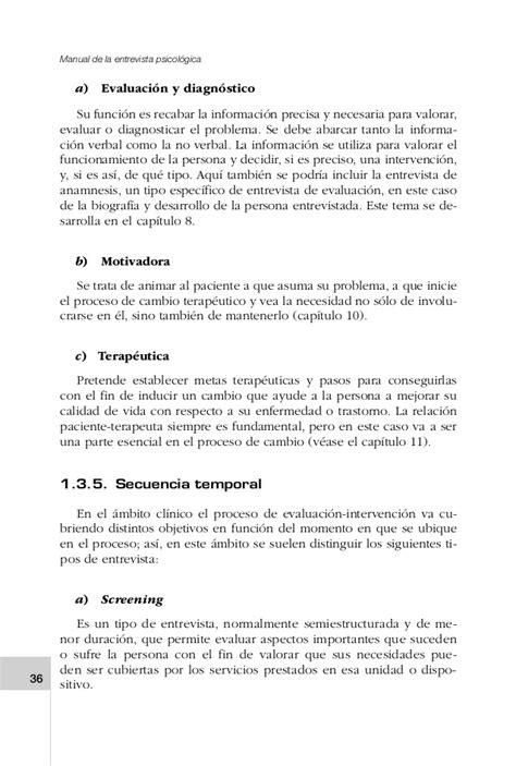 preguntas para una entrevista psicologica manual de entrevista psicol 243 gica