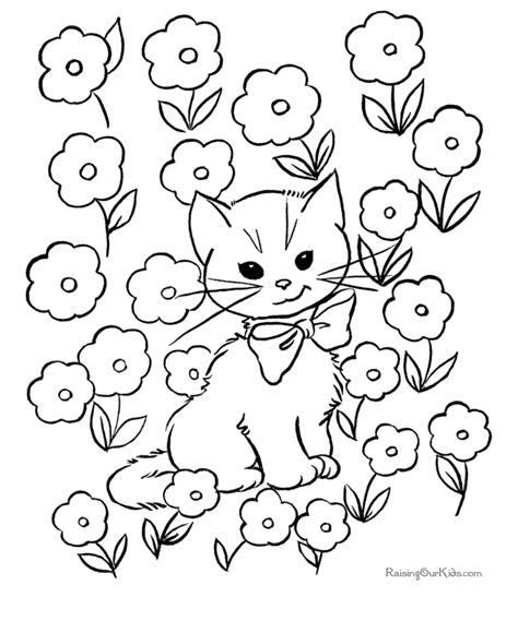 coloring pages of animals and flowers free flowers picture to print 033
