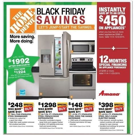 is home depot a black friday sale