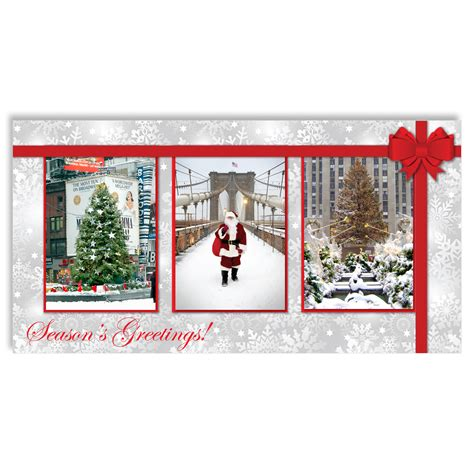 Nyc Gift Card - christmas in new york christmas money cards holders set of 6 ny christmas gifts