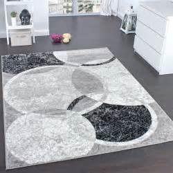 Teppich Wohnzimmer Grau Designer Teppich Wohnzimmer Teppich Kreis Muster In Grau