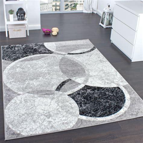 moderne wohnzimmer teppiche designer teppich wohnzimmer teppich kreis muster in grau