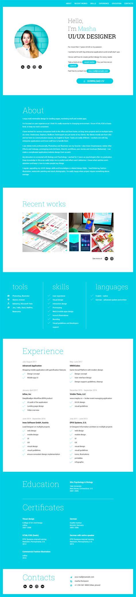 theme wordpress free responsive one page profession one page cv responsive theme free
