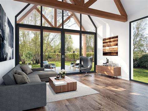 moderne villa landelijke moderne villa met stoere elementen buitenhuis