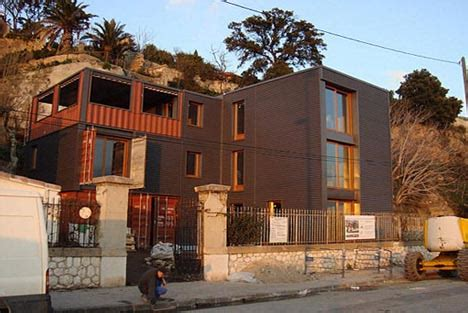 plans in motion shipping container home building photos