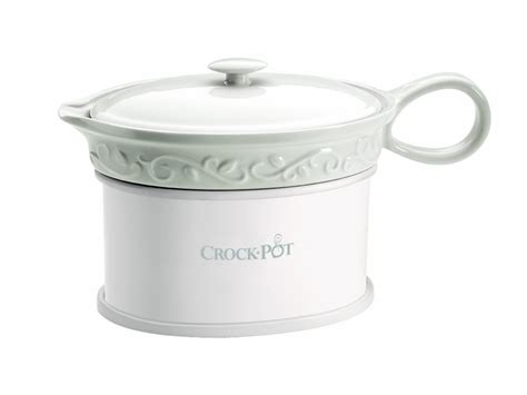 gravy boat with electric warmer new crock pot holiday sccpvg000 18 oz white electric gravy