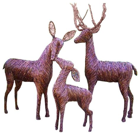 lighted grapevine reindeer outdoor christmas lifesize sculpted grapevine deer rustic outdoor decorations by deerly