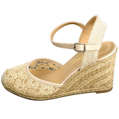 womens wedge slippers womens wedge heels platform shoes braided wicker lace