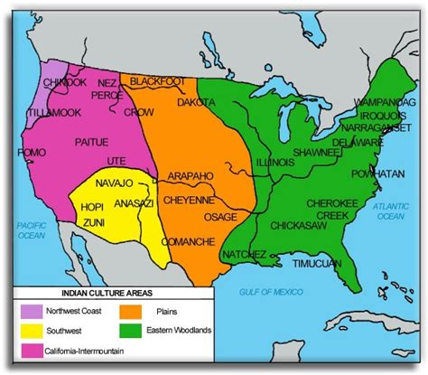 map of american tribes in the united states learner centeredhistory week 1