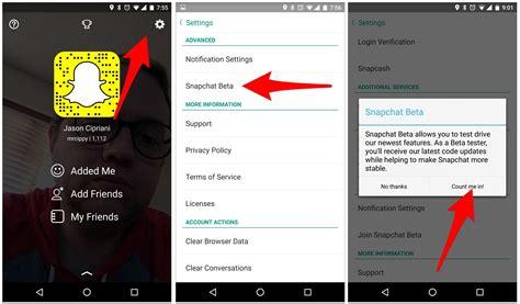 snapchat beta apk descargar snapchat 10 21 6 0 beta con nuevas opciones mira c 243 mo hacerlo