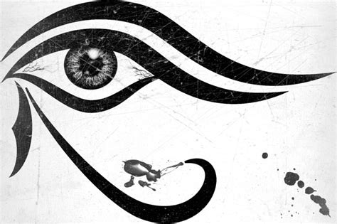 eyeball tattoo stencil eye of horus wadjet egyptian symbol meaning