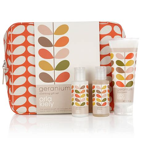 Matching Abacus Wallet Set By Orla Kiely by Orla Kiely Geranium Wash Bag Gift Set Toiletry Gifts