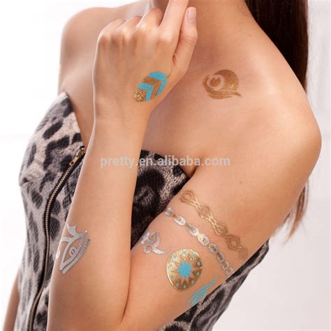 jewelry tattoo fashion jewelry temporary tattoos gold foil necklace