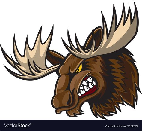 angry moose head royalty free vector image vectorstock