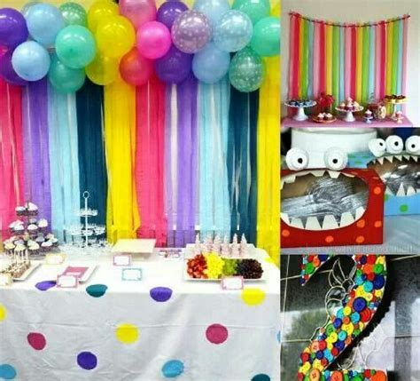 backdrop design birthday party streamers hanging from ribbon cheap easy backdrop for