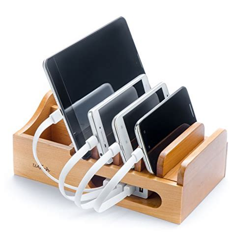charging station organizer for multiple devices real wood multi device organizer for using with multiple
