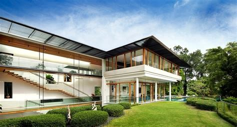 house design glass walls rooftop lawn house with huge glass walls modern house designs