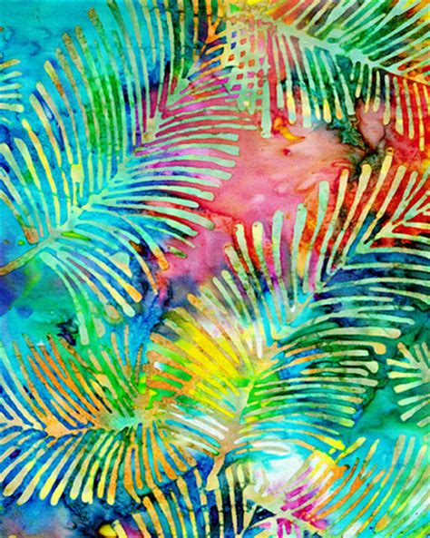 Batik Bali New bali batik fabric palm fronds bali batik fabric 100