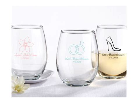 Wedding Favors Glasses by Chic Stemless Wine Glasses For Wedding Guest Favors