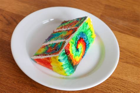 how to make a tie dye cake inside and out