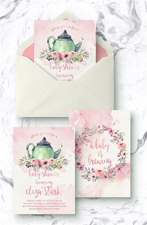 Tea Baby Shower Invitations by Best 25 Tea Baby Shower Ideas On
